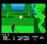 Greg Norman's Golf Power NES Choose where to hit the ball
