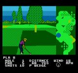 Greg Norman's Golf Power NES By some trees