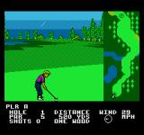 Greg Norman's Golf Power NES Playing in a downpour in Japan