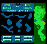Greg Norman's Golf Power NES Different shapes of water hazards