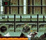 Alien³ SNES Floating platforms must be carefully jumped to.