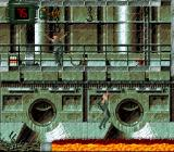 Alien³ SNES Some hand-over-hand rails get Ripley past dangers.