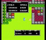 Dragon Warrior II NES Actions menu