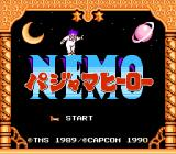 Little Nemo: The Dream Master NES Title screen (Japanese version)