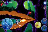 Earthworm Jim: Special Edition iPhone Firing off Jim's big red gun