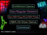 NBA in the Zone '98 PlayStation Game mode selection