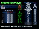 NBA in the Zone '98 PlayStation Creating a player.