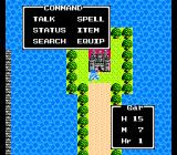 Dragon Warrior III NES Actions menu