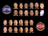 NBA in the Zone '98 PlayStation All-Stars players