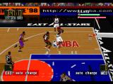 NBA in the Zone '98 PlayStation Side view of the shot