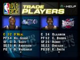 NBA Live 96 PlayStation Trade players