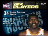 NBA Live 96 PlayStation Player information