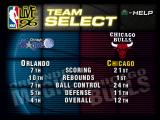 NBA Live 96 PlayStation Team selection