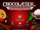 Chocolatier: Decadence by Design Windows Title screen and main menu
