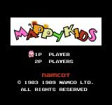 Mappy Kids NES Title screen