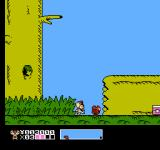 Mappy Kids NES The map screen at the bottom shows how far into the stage the player is