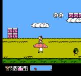 Mappy Kids NES Standing on a mushroom