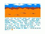 The Sands of Egypt TRS-80 CoCo In game help feature