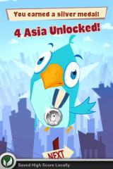 Bird Strike iPhone Won a silver medal and unlocked a new level.
