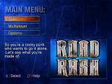 Road Rash: Jailbreak PlayStation Main menu