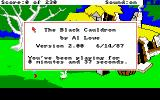 The Black Cauldron Amiga Game info gives you exact time you're playing, in seconds.