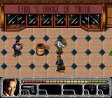 True Lies SNES Third level - Harry chases his foe into a mall filled with civilians.