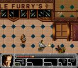 True Lies SNES Harry can roll to dodge bullets, and come up firing.