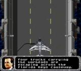 True Lies SNES A shooting level lets you control a Harrier jet.