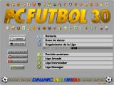 PC Fútbol 3.0 DOS Main Menu
