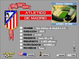 PC Fútbol 3.0 DOS Club information