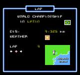 F1 Circus NES Set the number of laps for the race