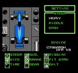 F1 Circus NES Options for the steering