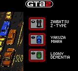 Grand Theft Auto 2 Game Boy Color Look the gang cars