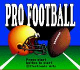 John Madden Football '92 SNES ...and, instead of a picture of John Madden and the game's logo, you get this title screen