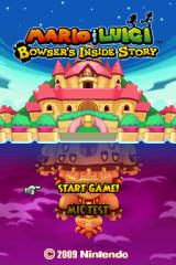 Mario & Luigi: Bowser's Inside Story Nintendo DS Title Screen.