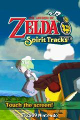 The Legend of Zelda: Spirit Tracks Nintendo DS Title Screen.