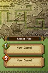 The Legend of Zelda: Spirit Tracks Nintendo DS Starting a new file.