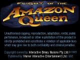 Flight of the Amazon Queen Windows Main title and copyrights.