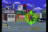 Virtua Cop SEGA Saturn This circle will show up on top of the enemy that's going to shoot at you next.
