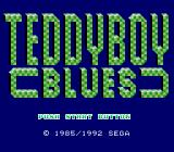 Teddy Boy Blues Genesis Title screen