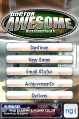 Dr. Awesome: Microsurgeon M.D. iPhone Main menu