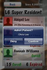 Dr. Awesome: Microsurgeon M.D. iPhone Admitting a patient