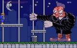 Fatman: The Caped Consumer Amiga The first boss, trying to use his fists to knock you out