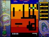 Namco All-Stars: Pac-Man and Dig Dug Windows Dig Dug classic mode: killing a Fygar.