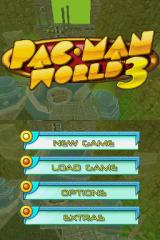 Pac-Man World 3 Nintendo DS Title screen.