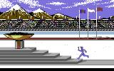Winter Games Commodore 64 The opening ceremonies