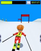 Playman Winter Games J2ME Going down the slalom slope
