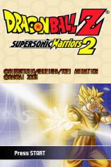 Dragon Ball Z: Supersonic Warriors 2 Nintendo DS Title screen.