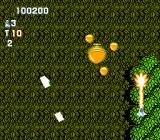 Gun-Nac NES Using fire against the giant acorn that is the mid-level boss of Area 4.
