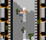Ikari III: The Rescue NES A landmine goes off while some enemies feign death.